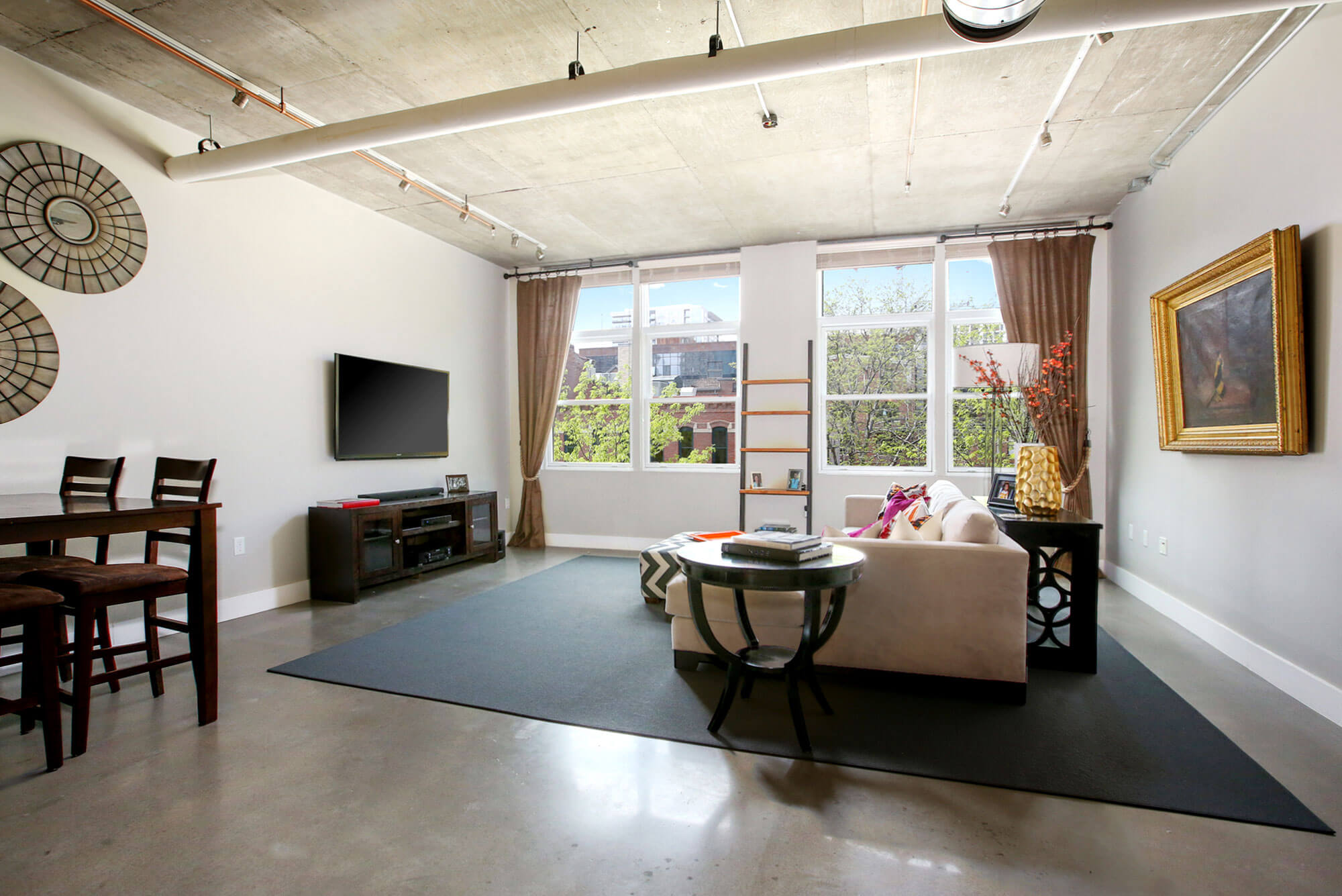 Luxury loft for rent at one of Denver's preeminent luxury residences Titanium Lofts
